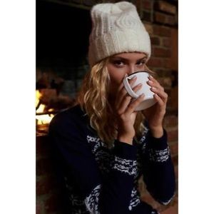 nwt // free people harlow cable knit beanie